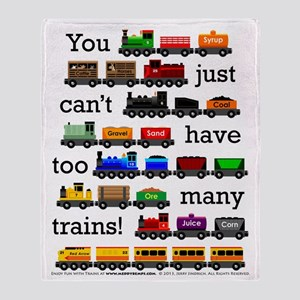 Too Many Trains Throw Blanket